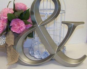 Silver Ampersand Symbol-Wedding Decor