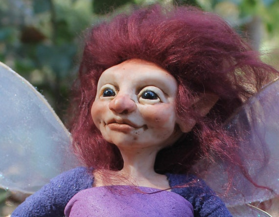 OOaK Polymer Clay Faery Art Doll Fairy Sculpture Oddfae