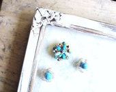 Brooch and Beads Repurposed Magnet Set