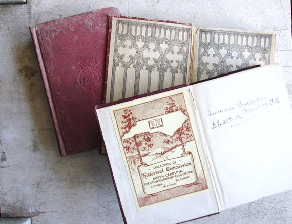 Antique Book Collection for Home and Wedding Decor