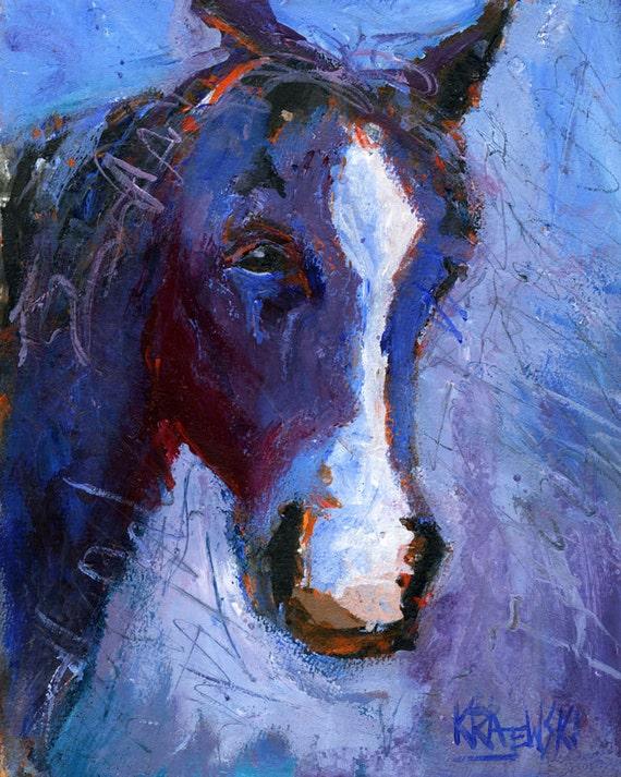 Blue Horse Original Acrylic Painting