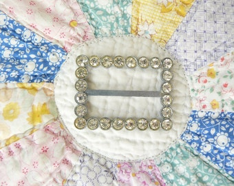 Vintage Rhinestone Belt, Shawl or Scarf Buckle - Add a touch of vintage bling to your wardrobe - Beautiful with a knitted shawl