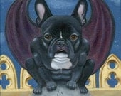 French Bulldog Frenchie Gargoyle Dog Art PRINT