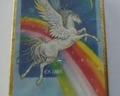 Rainbow Pegasus Vintage Bookplates RARE SEALED Box of 50 Stickers Labels Antioch Ex Libris