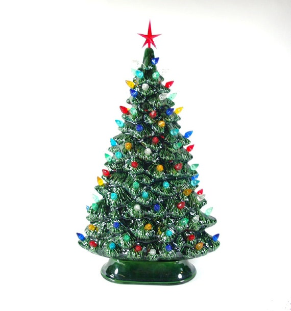 windowsill style lighted ceramic christmas tree by. Black Bedroom Furniture Sets. Home Design Ideas