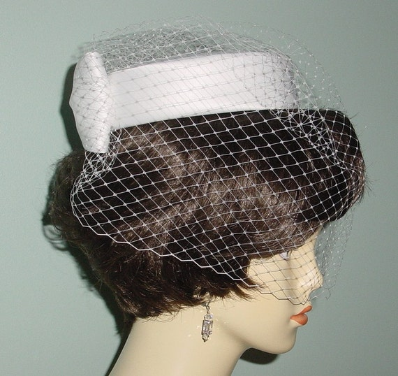 Jackie Pillbox Wedding Hat Bridal Hat  - Made to Order
