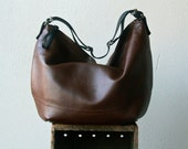 FALL COLLECTION - 'DUFFEL' with int zip pocket  -  leather hobo bag - soft and slouchy - in your choice of leather