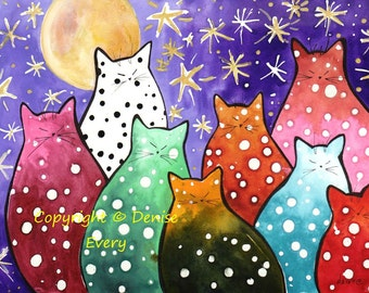 Image result for abstract art cats