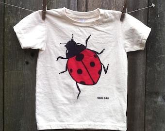 Ladybug Organic Child Short Sleeve Tee 2, 4, 6, 8, 10, 12