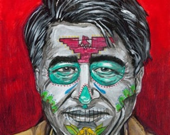 Cesar Chavez day of the dead print