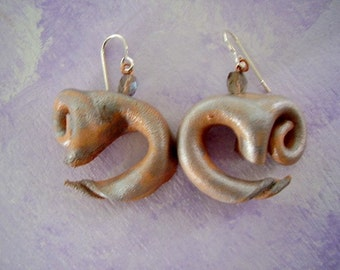 Almost Om Leather Earrings