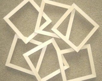 6 Unfinished picture frames narrow moulding  lots of 6 each your choice of 2x2's to 7x7's