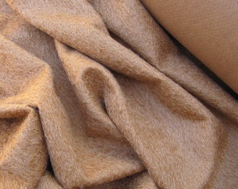 Dried Apricot (003) -  dusky apricot antiqued matted mohair - 10mm pile - 1/4m piece