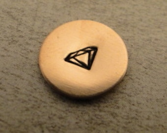 """Design Stamp - DIAMOND - 1/4"""" (6mm) includes How to Stamp Metal tutorial"""
