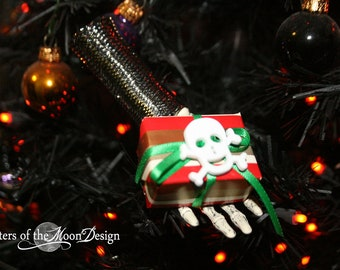 Skeleton hand Nightmare ornament collection decoration halloween christmas tree -- Pirate -- By Sisters of the Moon