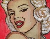 Marilyn Monroe - Print of Original Watercolor