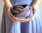artificial silk Scarf  - oblong hand made shawl in  lavender blue and grey