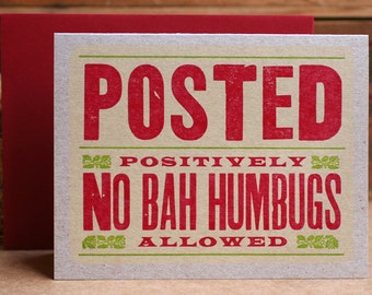Posted Letterpress Holiday Cards Set of 6