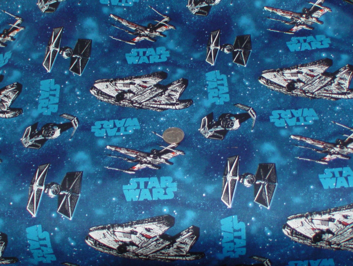 Star wars vehicles space ships fabric 2 yards from for Spaceship fabric
