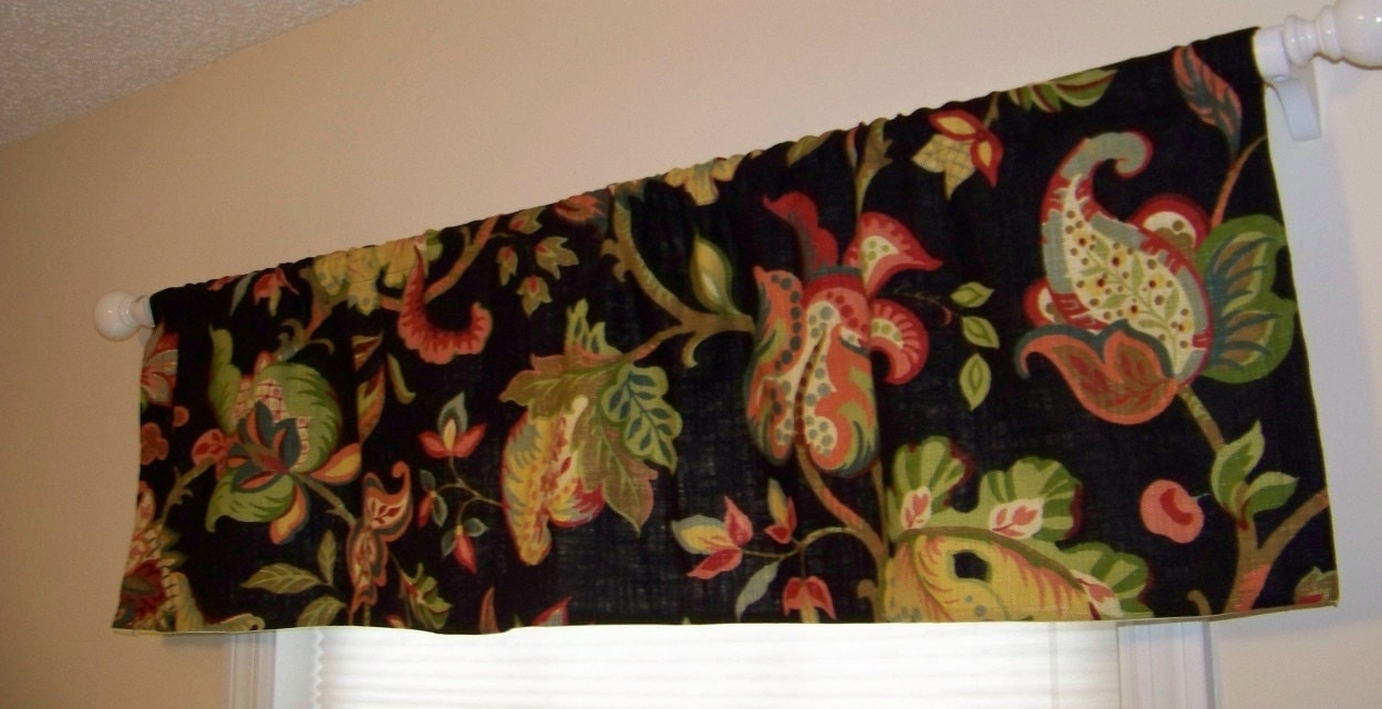 Black Jacobean Window Valance Richloom By Missmuffetstuffet