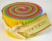 Moda Marble Citrus Jelly Roll includes 40 2.5 strips