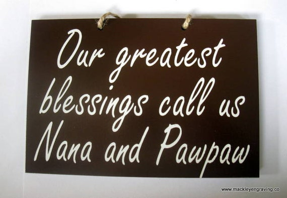 FOR DARIEN Grandparents greatest blessing painted wooden sign