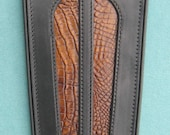 Harley Fender Bib w/Alligator print inlay FLHX FLHR