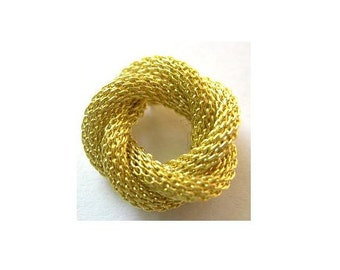 SALE-3 pcs Vintage knotted metal ring jewelry supplies 11mm