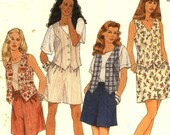 Large Sizes1995  Shorts and Vest Sewing Pattern McCalls 7663