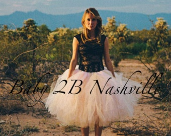 Adult Tutu Shabby Chic Blush Skirt  Perfect for Weddings and Portraits All Sizes