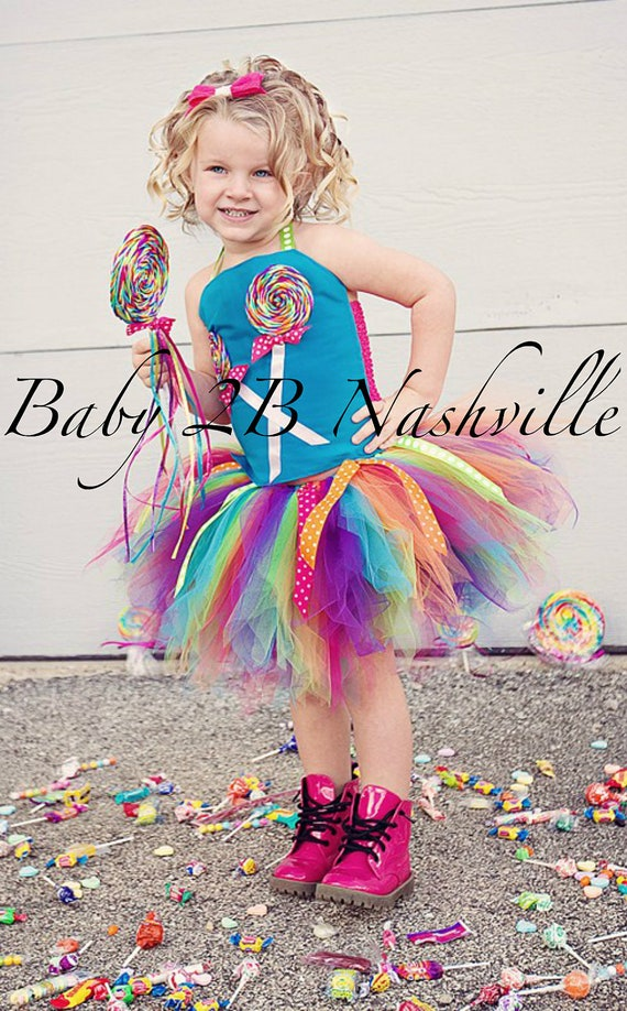 Girls Candyland Lollipop Costume Set Size 5-6T