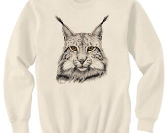 Eurasian Lynx Cat Art Sweatshirt Ultra Cotton Small - 2XL