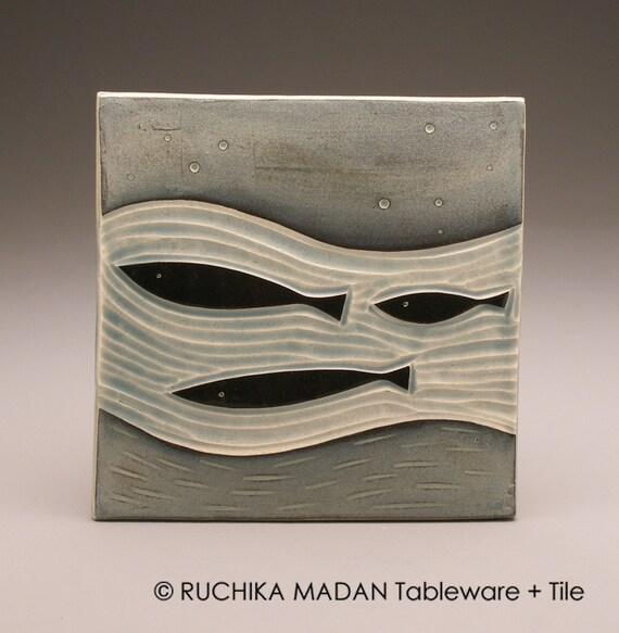Three Fish- 6x6 tile-Ruchika Madan