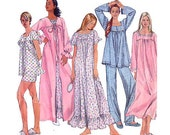 Simplicity 9957 Easy Nightgown / Pajamas / Robe Pattern - Plus Size M-L-XL / 14-24 - Uncut