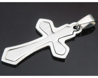 1pcs stainless steel pendant- A  Cross
