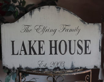 TAN Custom Lake House Vintage wood sign CUSTOM