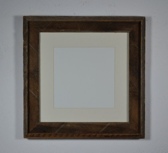 12x12 Barnwood Frame With 8x8 White Mat Lots Of Subtle