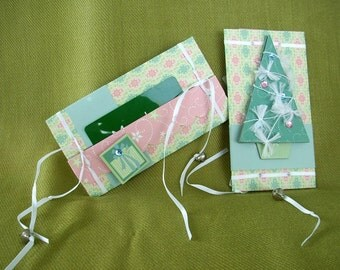 Set of 2 Dimensional Gift Card Holders