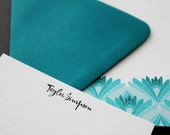 personalized stationery, lotus, notes - set (10)
