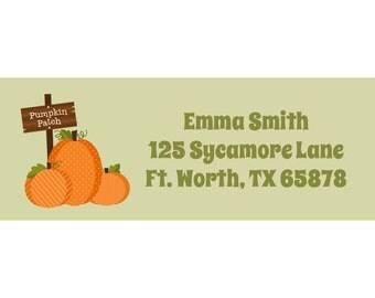 30 Personalized Pumpkin Patch Return Address Labels