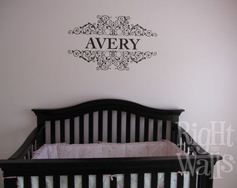 Nursery Wall Decal, Personalized Baby Scrolls, Nursery Stickers, Wall Stickers, Vinyl Wall Art, Baby Wall Art, Vinyl Wall Art