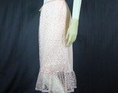 50s Pretty in Pink Lacy Half Slip by Mar-Lo, Medium - Vintage Lingerie