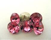 15 Rose Foiled Swarovski Crystal Chaton Stone 1088 39ss 8mm