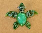 "Sea Turtle Dichroic Glass Pendant ... ""Created by Tom Heath"""