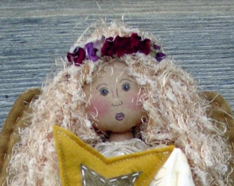 CF202 Treetop Angelica - PDF ePattern Cloth Doll Pattern, Treetop Angel
