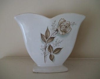 McCoy Vase Antique Brown Rose