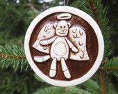 Sock Monkey Angel Ornament - Free Shipping in USA