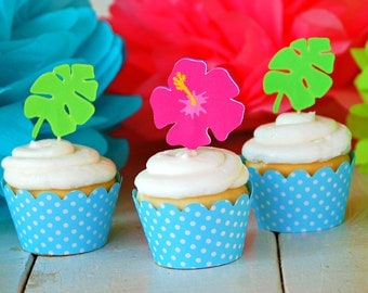 The Hula Collection - Custom Cupcake Toppers from Mary Had a Little Party