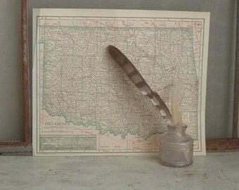 vintage map Oklahoma 1925