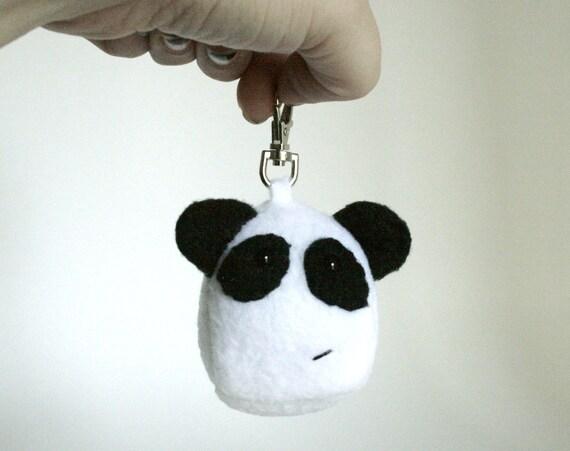 Panda Bear Keychain, Zipper Pull READY TO SHIP